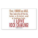 Love Rock Crawling Rectangle Sticker