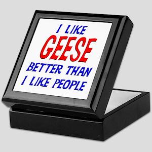 I Like Geese Keepsake Box