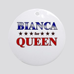 BIANCA for queen Ornament (Round)