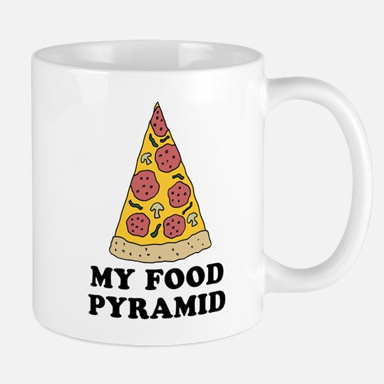 Pizza Food Pyramid Mugs