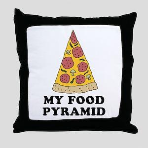 Pizza Food Pyramid Throw Pillow