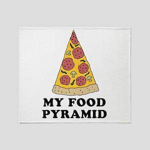 Pizza Food Pyramid Throw Blanket