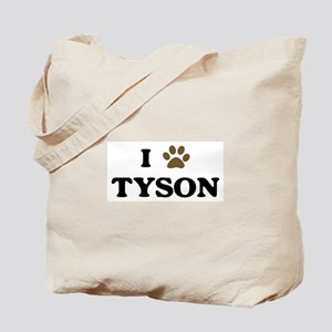 Tyson paw hearts Tote Bag