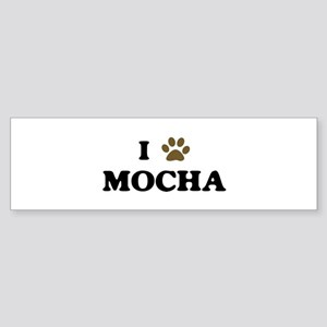 Mocha paw hearts Bumper Sticker