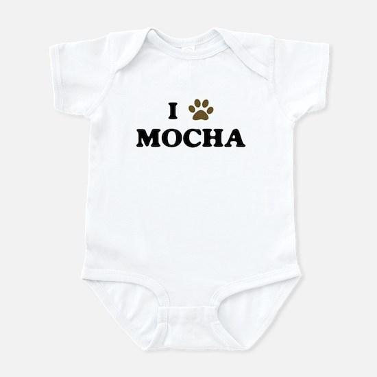 Mocha paw hearts Infant Bodysuit