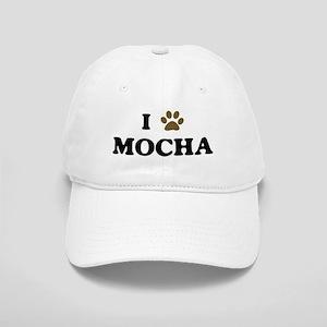 Mocha paw hearts Cap