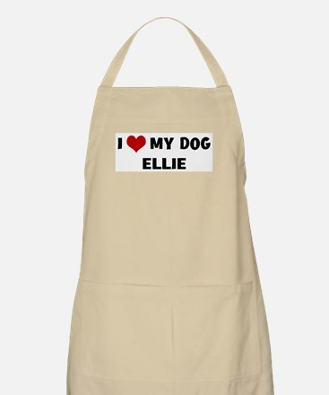 I Love My Dog Ellie BBQ Apron