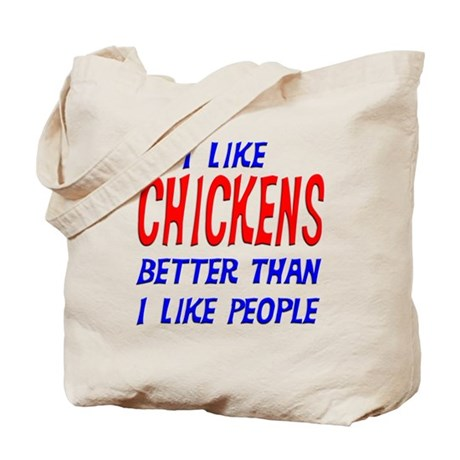 I Like Chickens Tote Bag