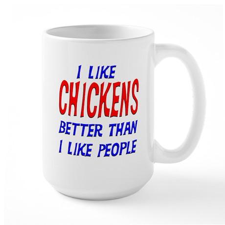 I Like Chickens Large Mug