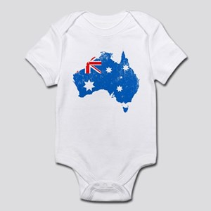 Aussie Map Flag Baby Light Bodysuit