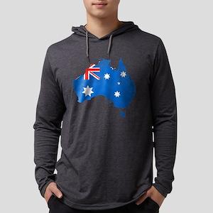 Aussie Map Flag Mens Hooded Shirt