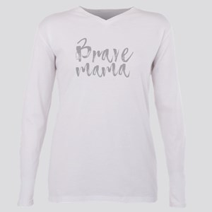 Grey Letters Plus Size Long Sleeve Tee T-Shirt