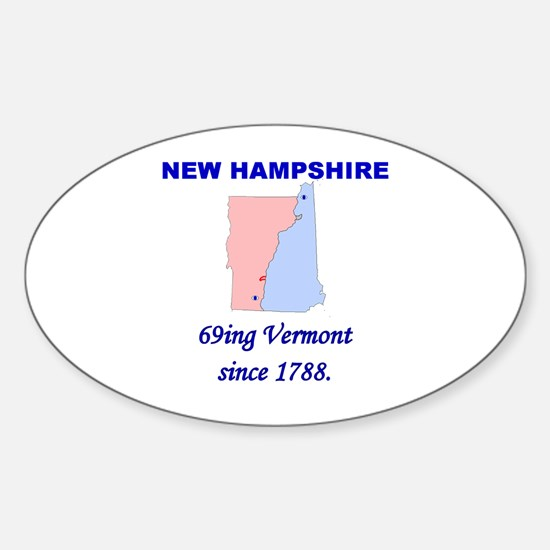 New Hampshire, 69ing Vermont Oval Decal