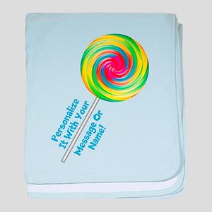 PERSONALIZE Lollipop Graphic baby blanket