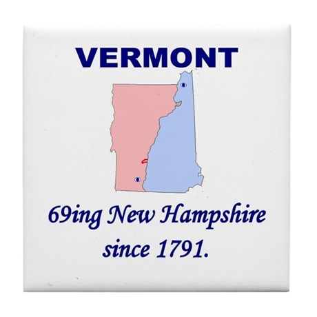 Vermont 69ing New Hampshire Tile Coaster