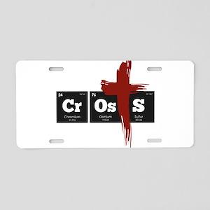 Periodic Elements: CrOsS Aluminum License Plate