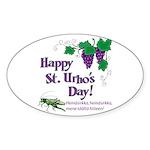 St. Urho's Day Oval Sticker