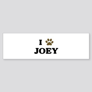 Joey paw hearts Bumper Sticker