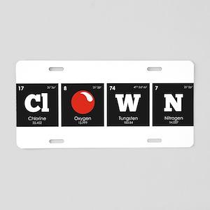 Periodic Elements: ClOWN Aluminum License Plate