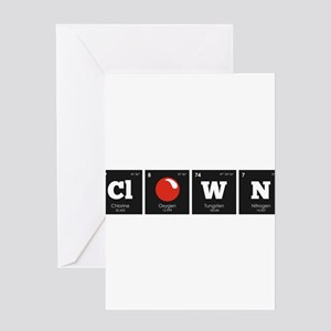 Periodic Elements: ClOWN Greeting Cards