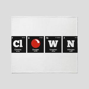 Periodic Elements: ClOWN Throw Blanket