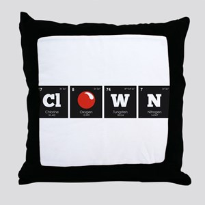 Periodic Elements: ClOWN Throw Pillow