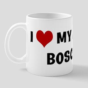 I Love My Dog Bosco Mug