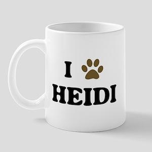 Heidi paw hearts Mug