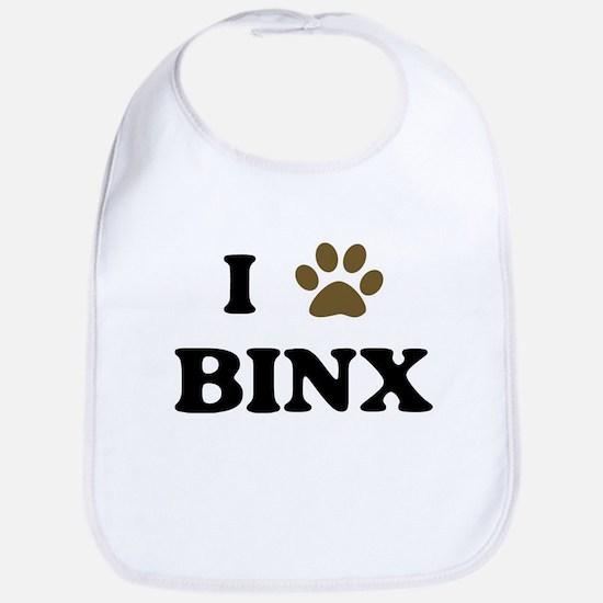 Binx paw hearts Bib