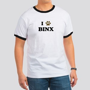 Binx paw hearts Ringer T