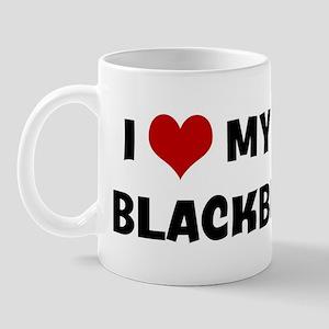 I Love My Dog Blackberry Mug