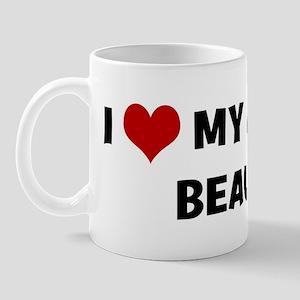 I Love My Dog Beau Mug