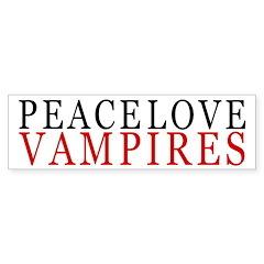 Peace, Love, Vampires Bumper Bumper Sticker