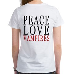 Peace, Love, Vampires Women's T-Shirt