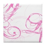 pink swish Tile Coaster