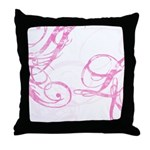 pink swish Throw Pillow