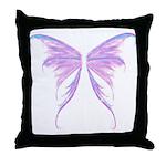blue/ purple wings Throw Pillow