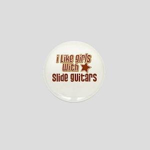I Like Girls with Slide Guita Mini Button