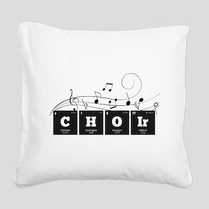 Periodic Elements: CHOIr Square Canvas Pillow