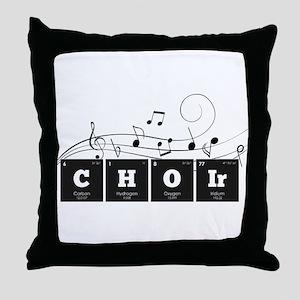 Periodic Elements: CHOIr Throw Pillow