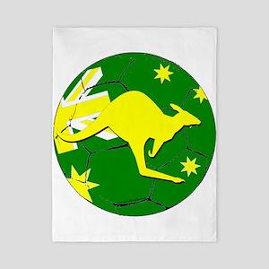Australia Kangaroo on Soccer ball Twin Duvet Cover