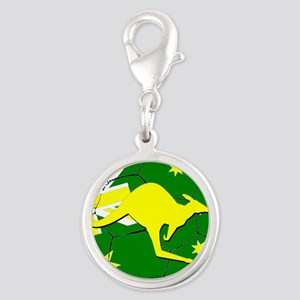 Australia Kangaroo on Soccer ball Charms