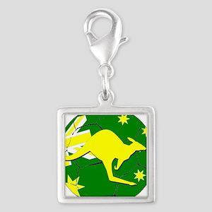 Australia Kangaroo on Soccer ball Charms