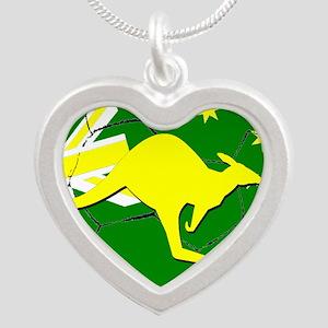 Australia Kangaroo on Soccer ball Necklaces