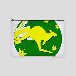 Australia Kangaroo on Soccer ball Makeup Bag