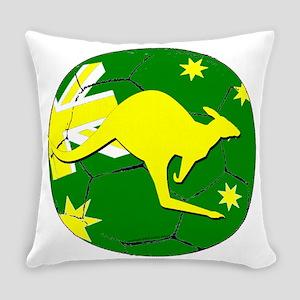 Australia Kangaroo on Soccer ball Everyday Pillow
