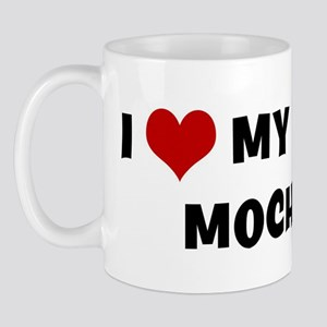 I Love My Dog Mocha Mug