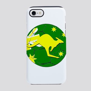 Australia Kangaroo on Soccer iPhone 8/7 Tough Case