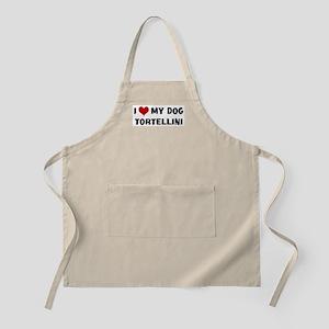 I Love My Dog Tortellini BBQ Apron