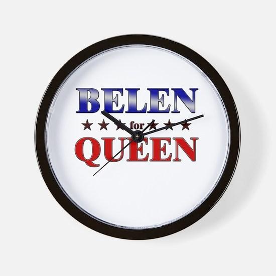 BELEN for queen Wall Clock